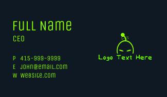 Alien Invasion Wordmark Business Card
