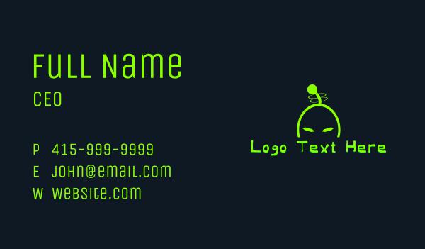 extraterrestrial - Alien Invasion Wordmark Business card horizontal design