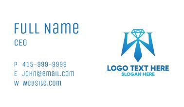 Diamond Tie Letter W Business Card