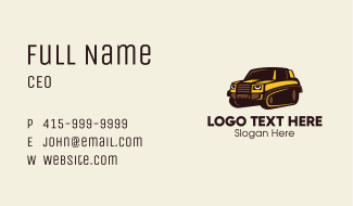 Modern Track Vehicle  Business Card