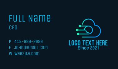 Cyber Cloud Camera Business Card