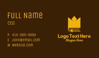 Golden Crown Book Business Card