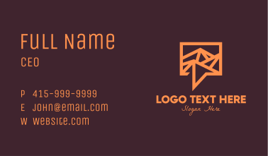 Orange Mountain Chat Business Card