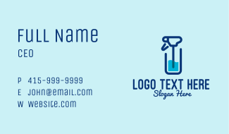Disinfection Spray Bottle Business Card
