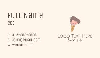 Kid Iced Cream Mascot Business Card