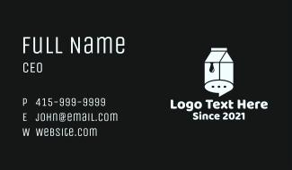 Chat Bubble Milk Box Business Card