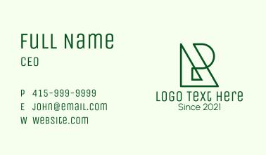 Monoline Letter R Business Card
