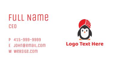 Turban Penguin Business Card