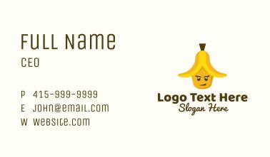 Banana Peel Mascot Business Card