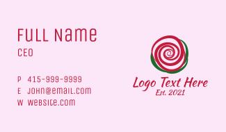 Rose Beauty Shop  Business Card