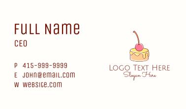 Minimalist Cherry Pudding  Business Card