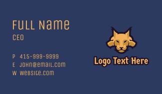 Golden Cerberus Mascot Business Card