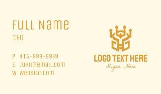 Golden Warrior Helmet Business Card