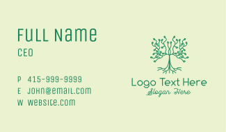 Natural Growing Seedling Business Card