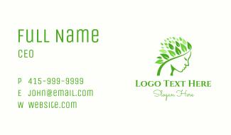 Leaf Hair Woman Business Card