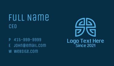 Maze Labyrinth   Business Card