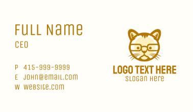 Geek Cat Glasses Business Card