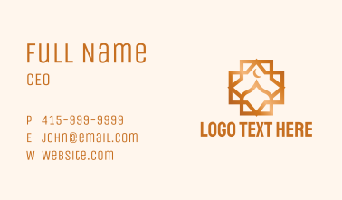 Geometric Muslim Dome Business Card