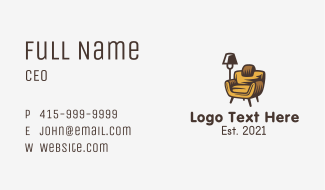 Modern Cozy Furniture Business Card