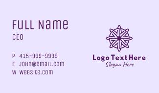 Violet Daisy Flower Business Card