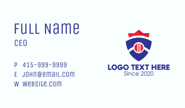 Baseball Team Shield Crest Business Card