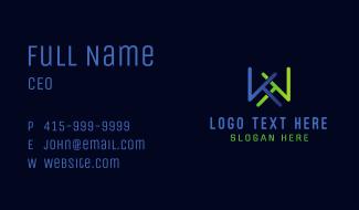 Minimalist Letter K & K Business Card