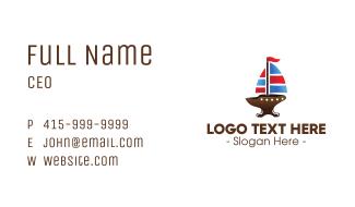 Iron Galleon Ship Business Card