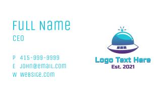 Gradient UFO Spaceship Business Card
