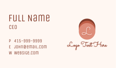 Blush On Shades Color  Business Card