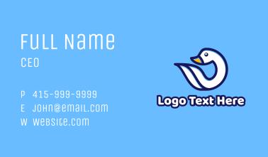 White Swan Bird Business Card