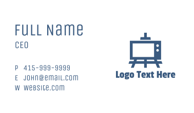 Blue Painting TV Business Card