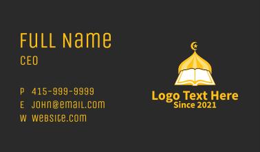 Golden Muslim Koran  Business Card