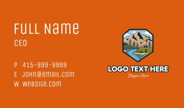 Riverside Campsite Badge Business Card
