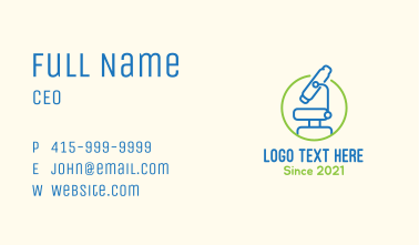 Microbiological Science Lab Business Card