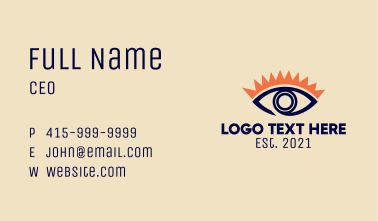Eyelash Extension Eye  Business Card