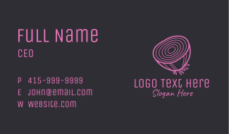Onion Slice Rings Business Card