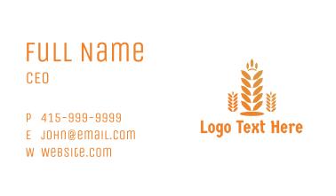 Polygon Rice Grain Business Card