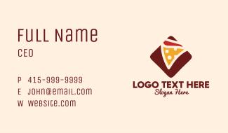 Pizzeria Pizza Box Business Card