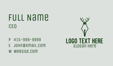 Deer Quill Pen  Business Card