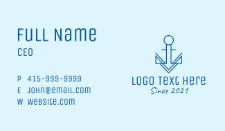 Minimalist Sail Anchor Business Card