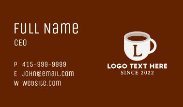 Coffee Mug Lettermark Business Card