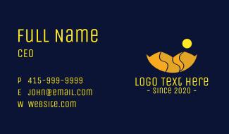 Orange Sun Mountain  Business Card