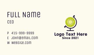 Kiwi Globe Business Card