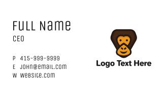Smiling Gorilla Cartoon Business Card