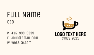 Coffee Chat Bubble  Business Card