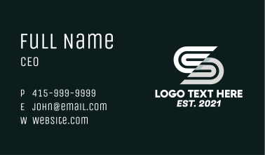 Race Track Letter S Business Card