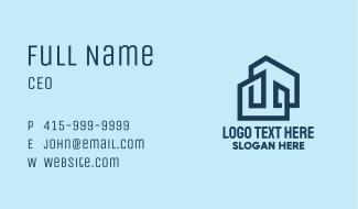 Modern Property Buildings Business Card