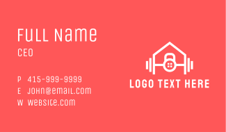 Home Fitness Gym Business Card