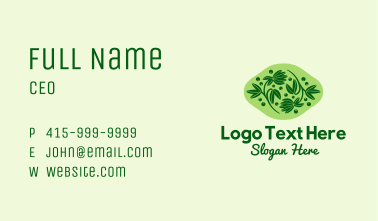 Natural Herb Plant  Business Card