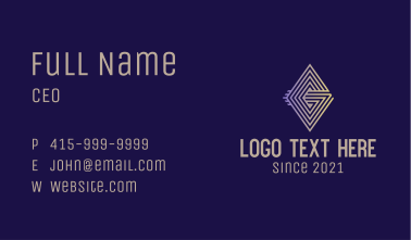 Luxury Letter G Business Card